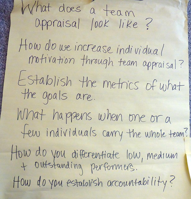 What does team appraisal look like description this for What do appraisers look for