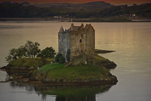 sunset castle scotland sundown castlestalker argyleandbute lochlaich