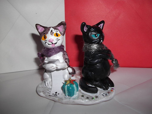 Christmas Carolling Cats model