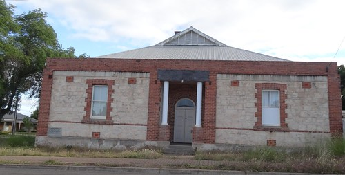 Bordertown. Bordertown Masonic Lodge. Lodge founded 1911 and this temple opened in 1926. Closed in 2008 and sold in 2011.