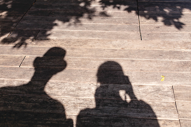 Shadow self-portrait at the Highline