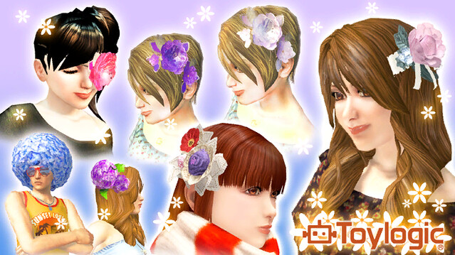 ToyLogic Flower Accessories in PlayStation Home