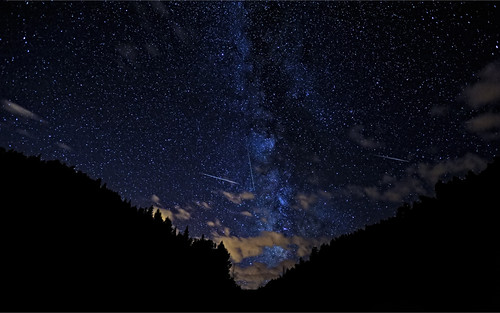 The Perseid meteor showers put on a fantastic light show for star gazers. Photo courtesy of NASA.
