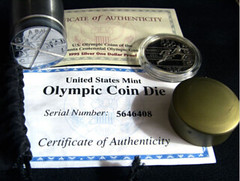Olympic coin die