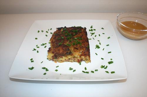 31 - Döppekoochen - Rheinischer Kartoffelkuchen - Servier / Rhenisch potato cake - Served