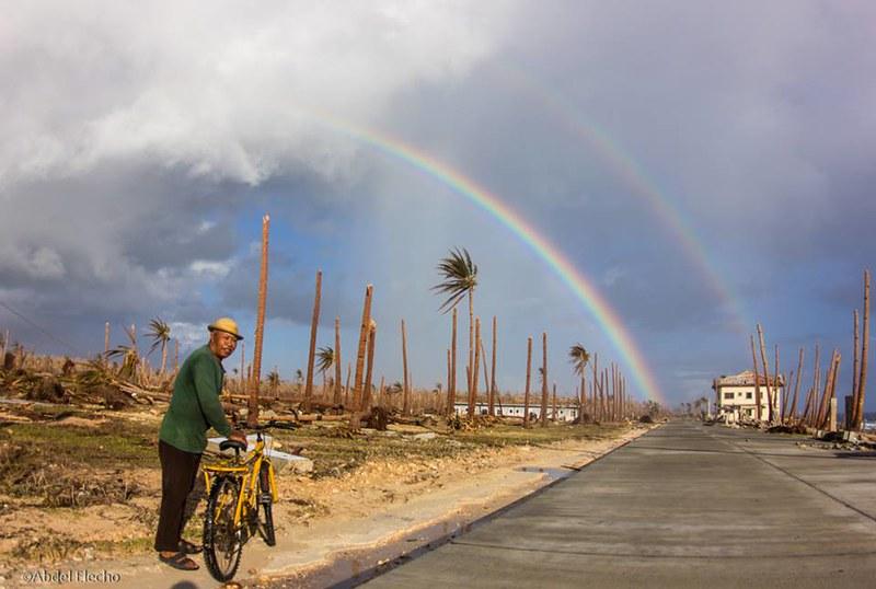 double rainbow, eastern Samar