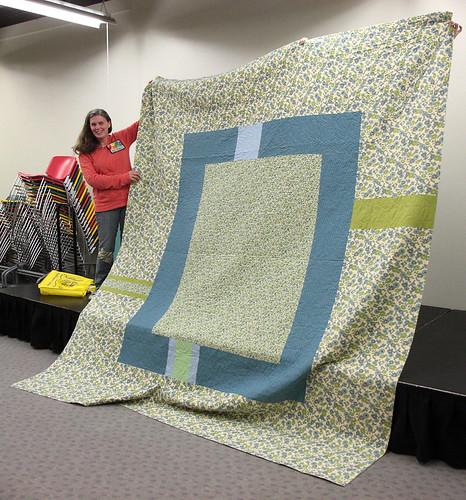 Lisa T's massive quilt