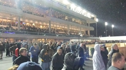 SnapShot | The Crowd Outside Before The First Race Ever In Front Of The New #Meadowlands Grandstand