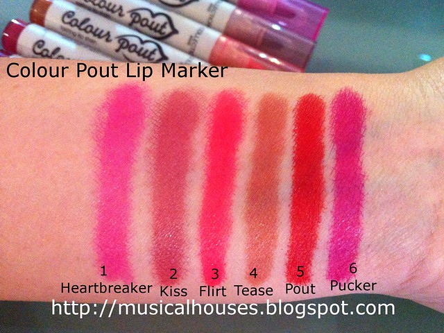 Collection Cosmetics Colour Pout Lip Stain Swatches