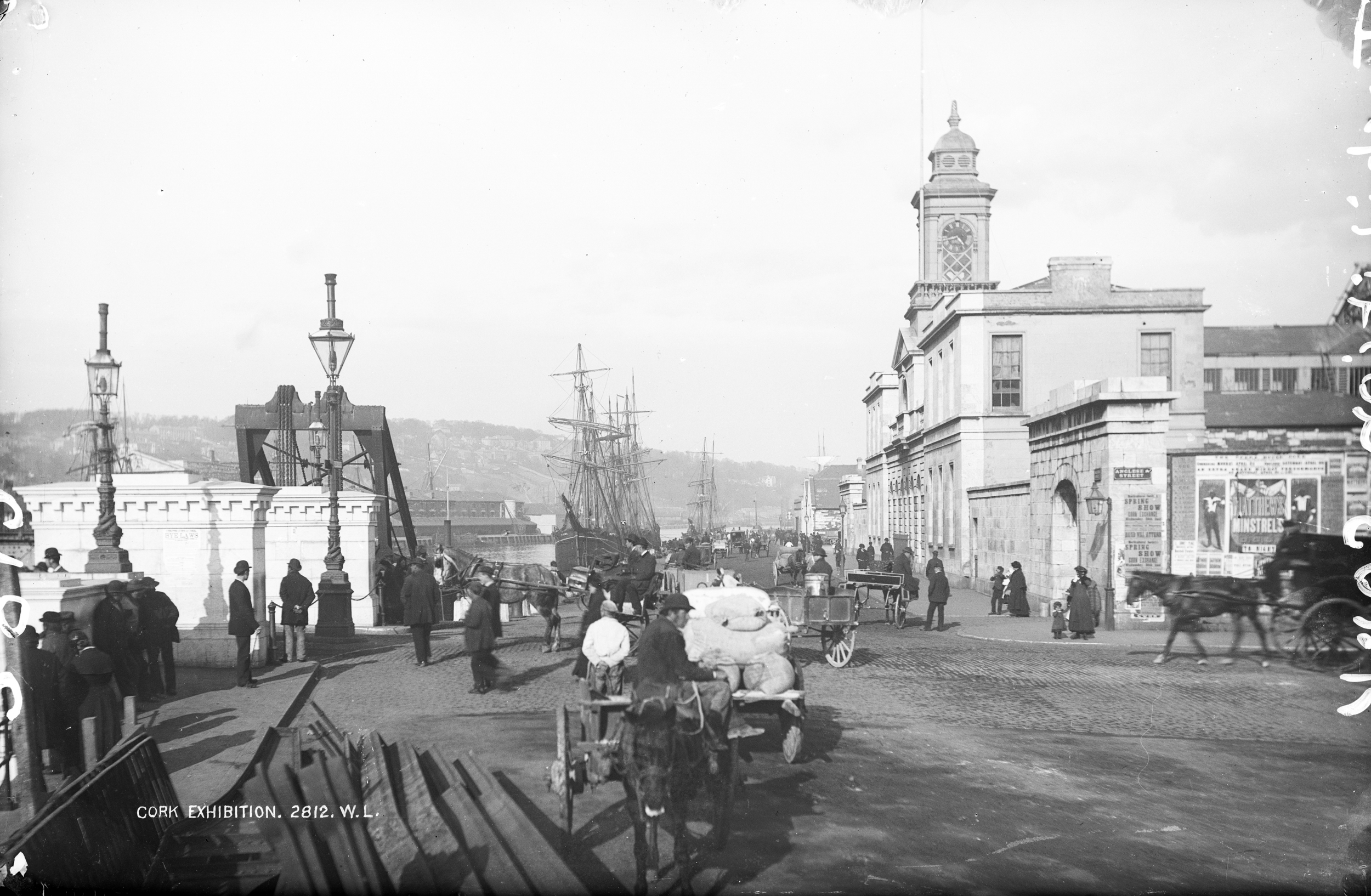 Old photo of City Hall, Co. Cork, Ireland