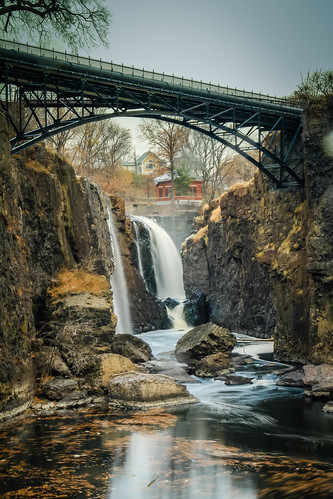 park new bridge usa canon river eos waterfall long exposure extreme great nj landmark falls national 7d jersey historical service paterson hdr passaic lightroom the