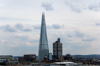 Vue sur The Shard depuis la terrasse du One New Change
