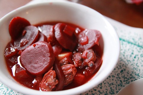 Beets and clam soup