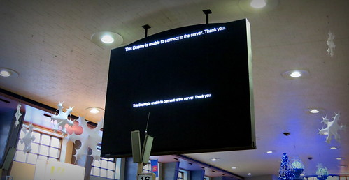 This Display is unable to connect to the server. Thank you.