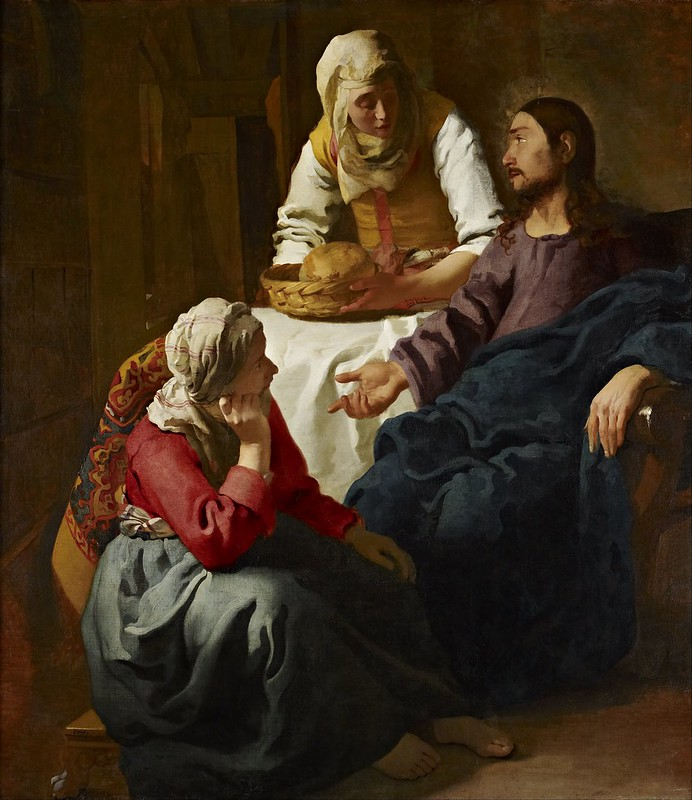 Johannes Vermeer - Christ in the House of Martha and Mary (c.1654)