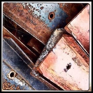 Rusty steel girders