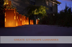 1 paper bag cityscape LED-luminaries