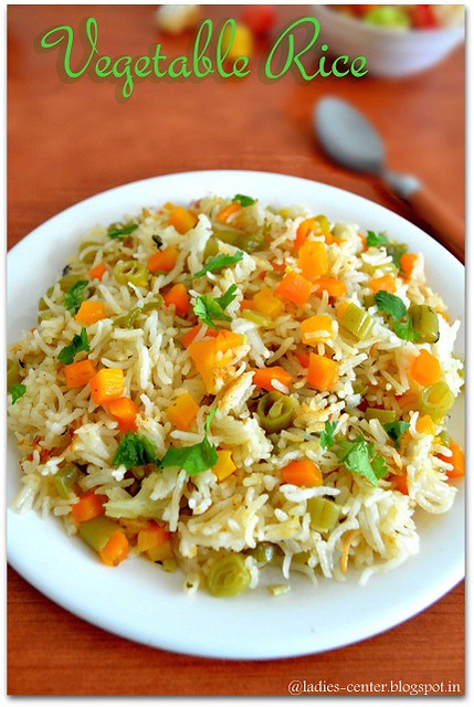 vegetable rice or veg rice is a variety rice with lot of vegetables