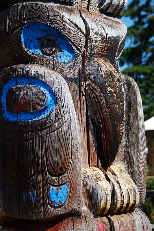 Totem Pole in Port Alberni, Alberni Valley, Vancouver Island, British Columbia