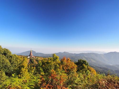 nature landscape thailand southeastasia stupa chiangmai doiinthanon 12mmf20 olympusomdem5
