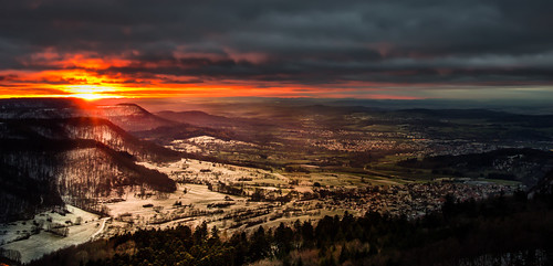 schnee light sunset snow clouds germany landscape wolken alb landschaft bäume schwäbischealb schwäbische reutlingen rosberg sonnenunterang gönningen