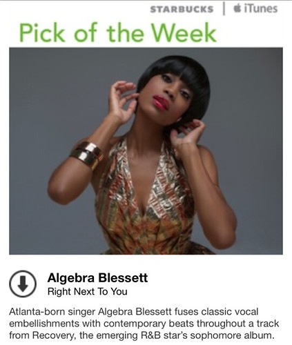 Starbucks iTunes Pick of the Week - Albegra Blessett - Right Next To You