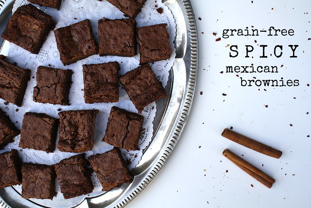Grain-Free Spicy Mexican Brownies by cocinadecella.com