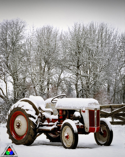 Tractor in the snow by Douglas Remington - Ethereal Light® Photography