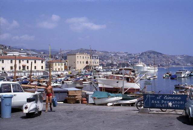 Port de San Remo, Italie - 1968