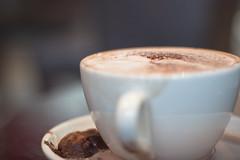 ristretto(0.0), hot chocolate(0.0), espresso(1.0), cappuccino(1.0), flat white(1.0), cup(1.0), mocaccino(1.0), cortado(1.0), coffee milk(1.0), caf㩠au lait(1.0), coffee(1.0), coffee cup(1.0), caff㨠macchiato(1.0), drink(1.0), latte(1.0), caffeine(1.0),