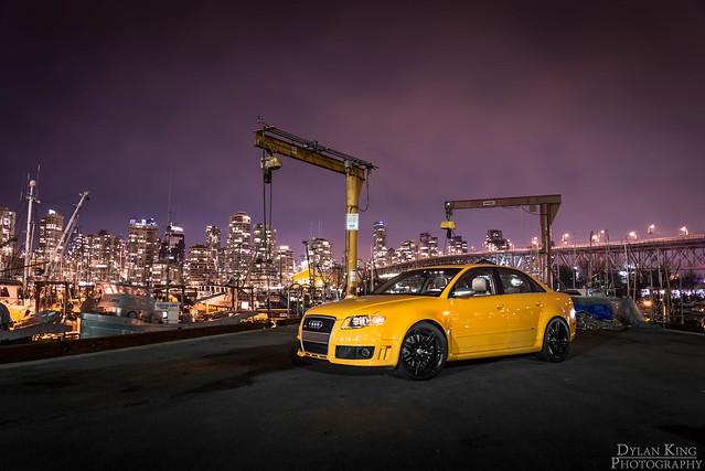 Imola Yellow Audi RS4