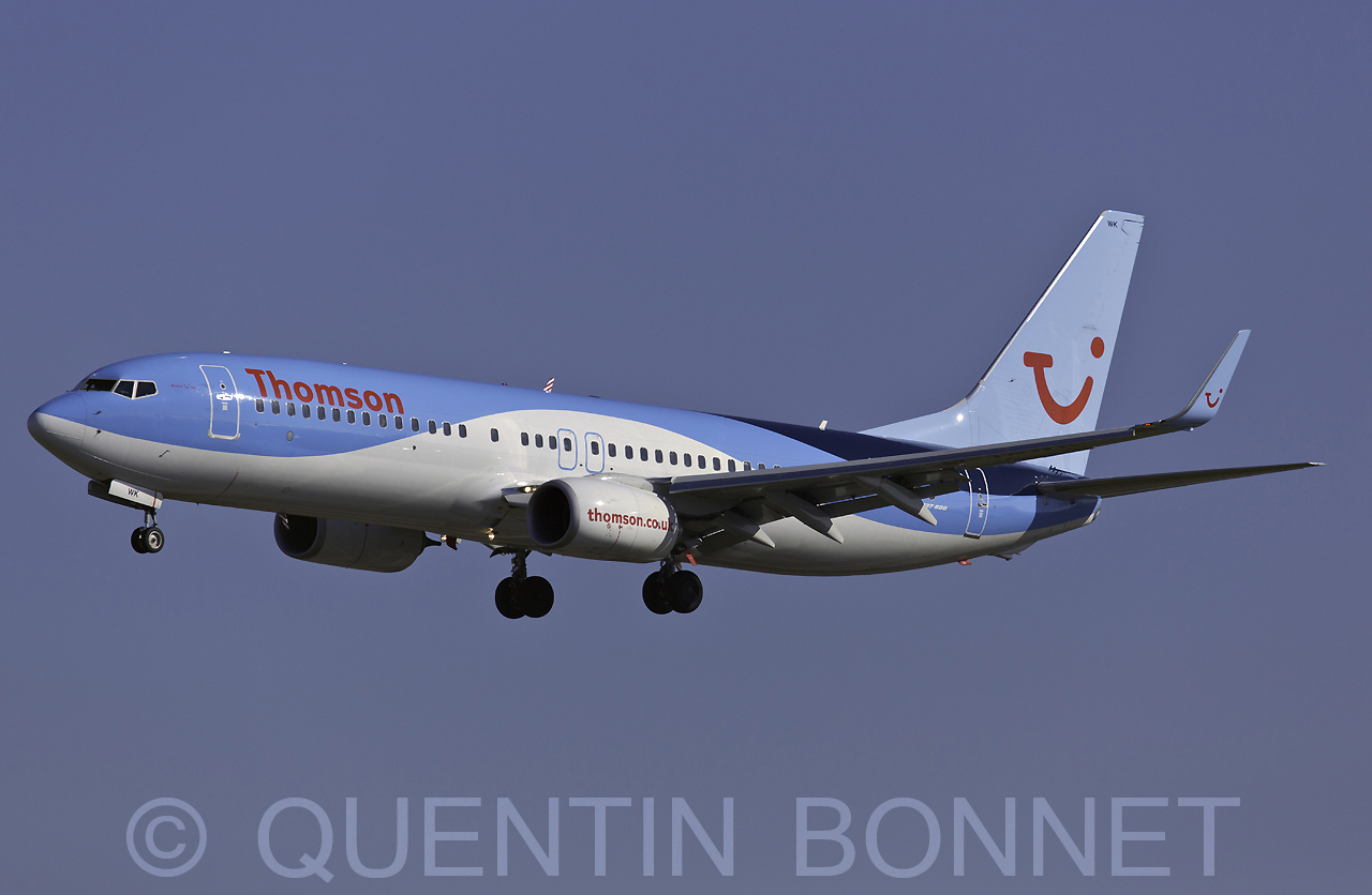 Thomson Airways Boeing 737-8K5 (WL) G-TAWK