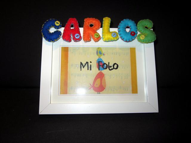 Marco de fotos personalizado - Carlos