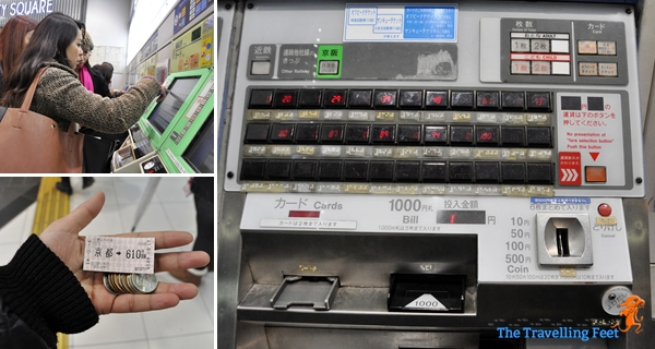buying our train ticket to Nara