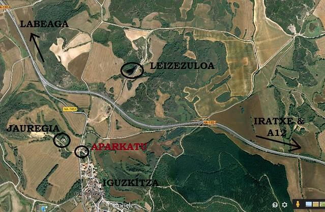 Mintza-txangoa Iguzkitzara mapa