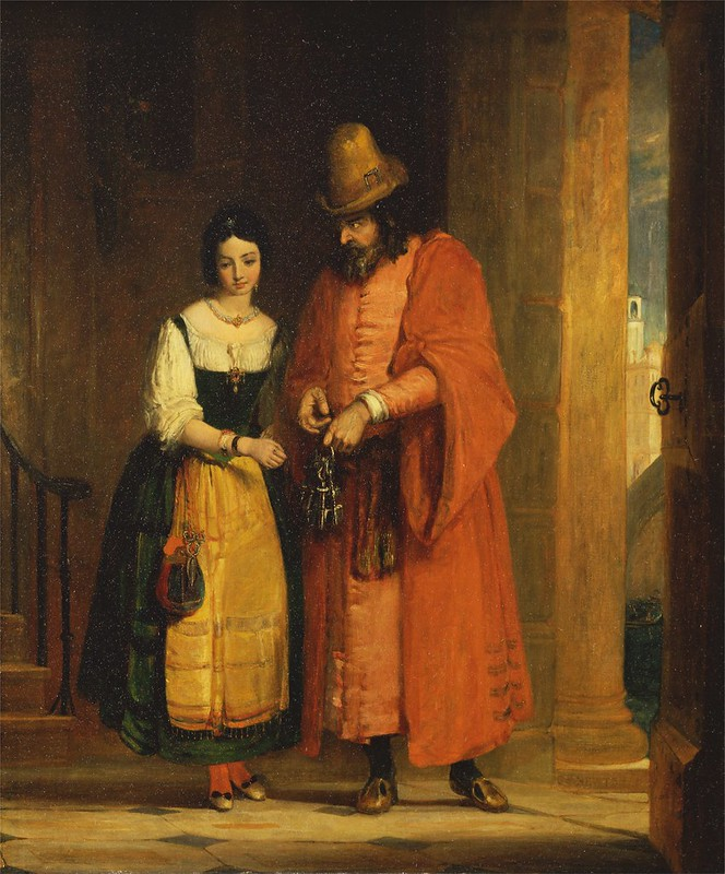 Gilbert Stuart Newton - Shylock and Jessica from the 'Merchant of Venice' II (1830)