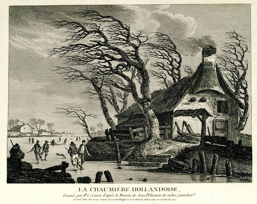 003- Casa de campo holandesa-Oeuvre gravé de Jean Pillement..1767-Vol 1- INHA