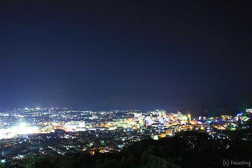 longexposure japan night nightscape onsen nightview hotspring 夜景 oita beppu 温泉 yakei 大分 別府 湯けむり展望台 yukemuriobservatory