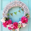 My new wreath! Get the DIY details on my blog today. Super easy. #wreath #ontheblog #livinglocurto #livingcreative #spring