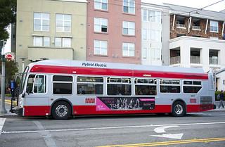 SF Muni Hybrid Bus