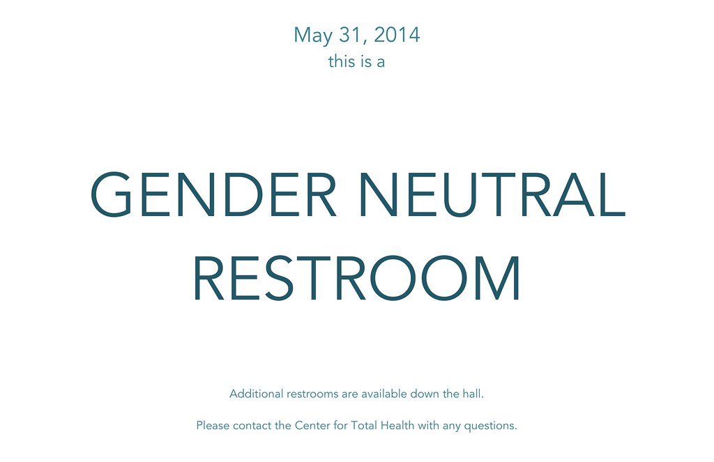 Gender Neutral Restroom Center for Total Health 42365