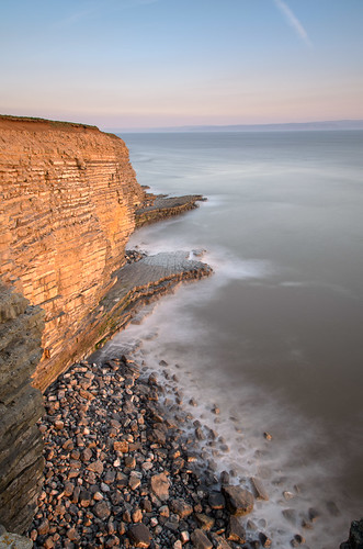 heritage wales point coast rocks waves cut platform wave severn glamorgan nash goldenhour risingtide marcross