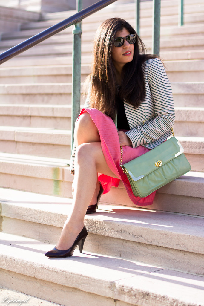 striped blazer, pink skirt, mint bag-1.jpg