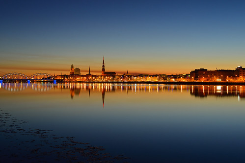 city summer reflection water night river town latvia silence riga midnightsun whitenight daugava polarday