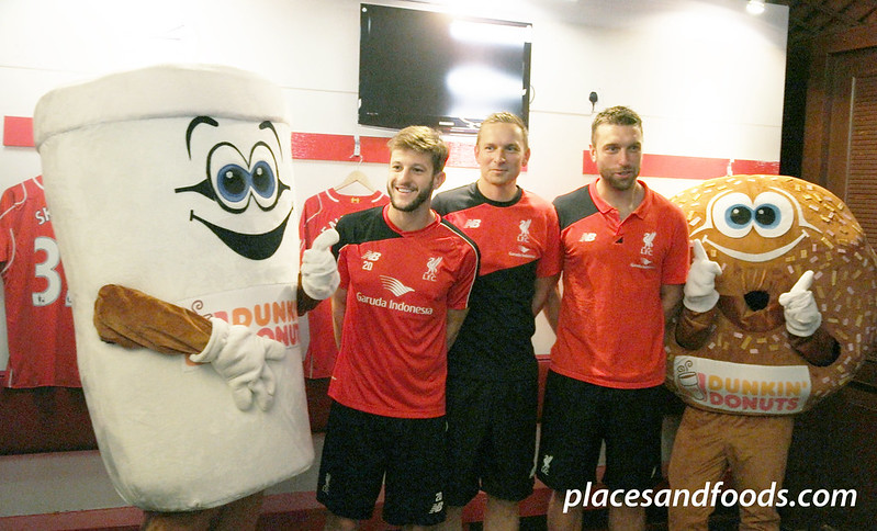 liverpool asia tour 2015 adam lallana with mascots