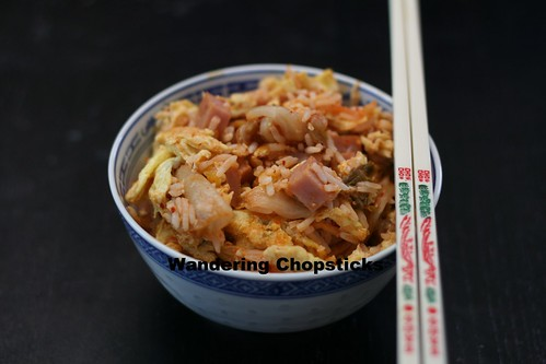 Fried Rice with Kimchee and Spam 1