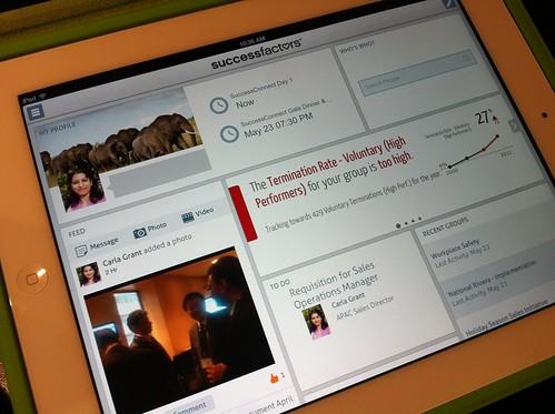 SuccessFactors mobile app demo