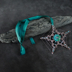 "Necklace Magical Totem Pentacle: ""Star of the Spider"""