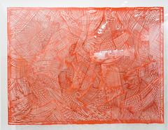 """""""Georgia Russell: Brushstroke (red), 2013. (Cut paper; plexiglass)"""" / Galerie Karsten Greve AG St. Moritz / Art Basel Hong Kong 2013 / SML.20130523.6D.13863"""