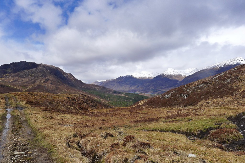 Looking down the Allt Garbh to Affric